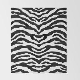 Zebra Wild Animal Print Black and White Throw Blanket