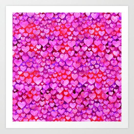 Heart Pattern 08 Art Print