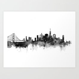 San Francisco Black and White Art Print