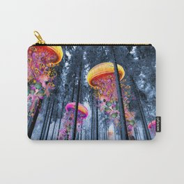 Winter Forest of Electric Jellyfish Worlds Carry-All Pouch