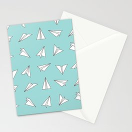Paper Planes Pattern Print Stationery Cards