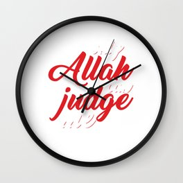 Religion Allah Imam Ali Hussain Hajj Pilgrimage Mecca Gift Only Allah Can Judge Me Wall Clock