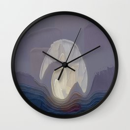 Visible By The Wheel Of Light Wall Clock