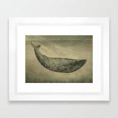 Damask Whale  Framed Art Print