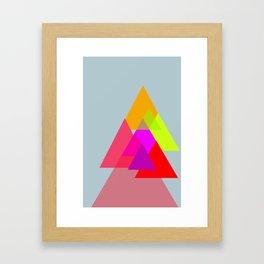 Triangles - Rouge color scheme Framed Art Print