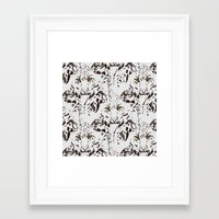snow leopard Framed Art Prints featuring Snow Leopard by lillianhibiscus