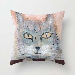 Raggedy Cat Throw Pillow