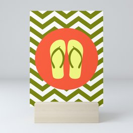 Beach Sandals - Cute Summer Accessories Collection Mini Art Print