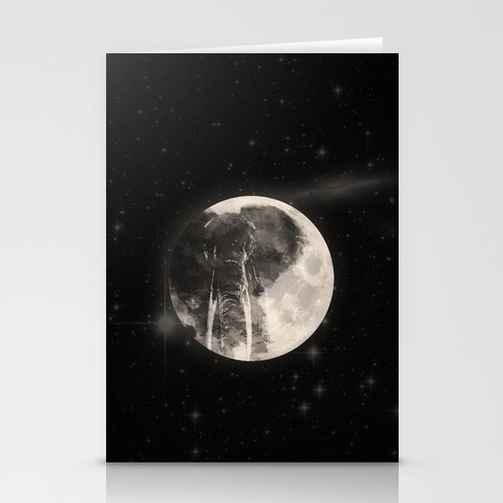 The Elephant in The Moon Stationery Cards