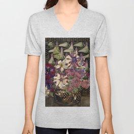 "Charles Rennie Mackintosh ""Petunias"" Unisex V-Neck"