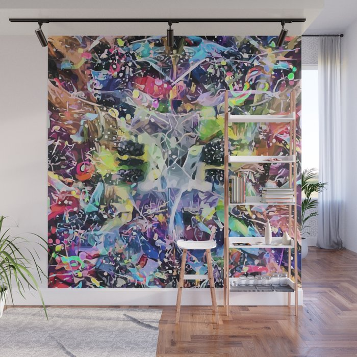 Crow's Paintbrush Wall Mural