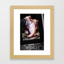 Running Abstract Framed Art Print