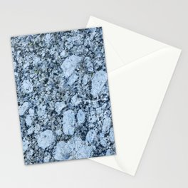 Blue textured granite rock Stationery Cards