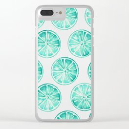 Turquoise Citrus Clear iPhone Case