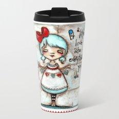 Made with Love - Heart String Tugger Travel Mug