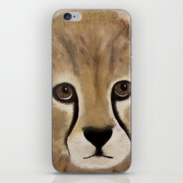 Cheetah Cub - Original Textured Painting iPhone Skin