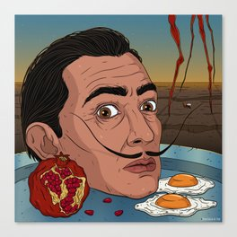 Dinner with Salvador Dali Canvas Print