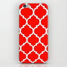 MOROCCAN RED AND WHITE PATTERN iPhone Skin