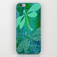 dragonfly iPhone & iPod Skins featuring Dragonfly  by Saundra Myles