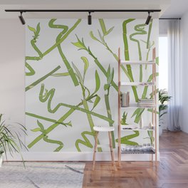 Scattered Bamboos Wall Mural