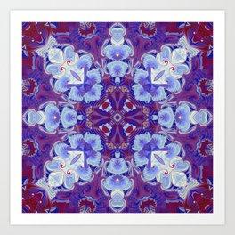 Snowflake Petals Art Print