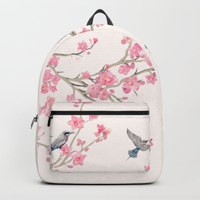 Birds and cherry blossoms Rucksack
