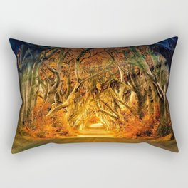 Haunted Road Rectangular Pillow