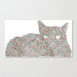 Composite Cat Canvas Print