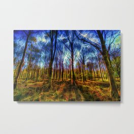 Forest Mystical Art Metal Print