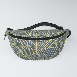 Ab Lines Gold and Navy Fanny Pack