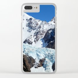 The Giant on Earth- Glacier and Mountains Clear iPhone Case