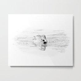 Duck Sketch Metal Print