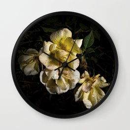 Wilted flowers Wall Clock