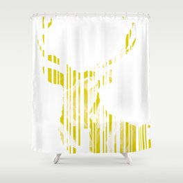 Geometric Yellow Stag Shower Curtain