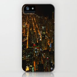 Looking Down on Downtown #1 (Chicago Architecture Collection) iPhone Case