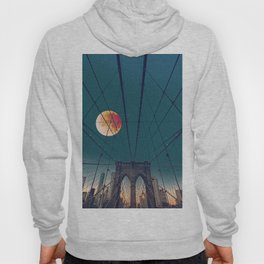 Blood Moon over the Brooklyn Bridge and New York City Skyline Hoody
