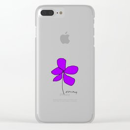 Violetra Clear iPhone Case
