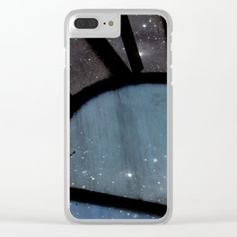 Starry Night - Clock Tower Clear iPhone Case