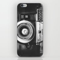 vintage camera iPhone & iPod Skins featuring Camera by Pauline Gauer