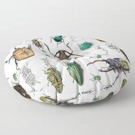 Beautiful Beetles Floor Pillow