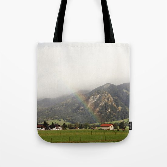 Rainbow in the Valley Tote Bag