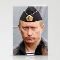 putin Stationery Cards featuring Putin seaman. by Mikhail Zhirnov