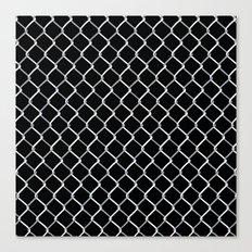 Chain Link on Black Canvas Print
