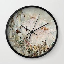 """""""Exotics at Play"""" by Duncan Carse Wall Clock"""
