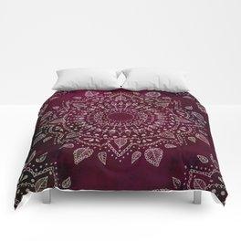 Wine Mandala Comforters