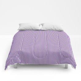 Purple Pinstripes Comforters