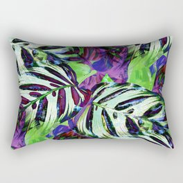 Nature Digital Art Foliage Rectangular Pillow
