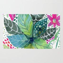 Leafy Tropical Rug