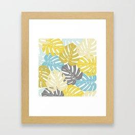 Colourful tropical leaves Framed Art Print