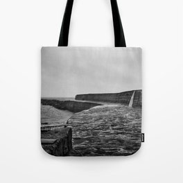 Lyme Regis Pier Tote Bag